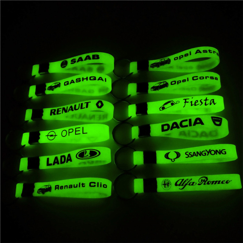 Car Styling Luminous Silicone Sticker Case For Renault Lada Opel Alfa Romeo Ford Toyota Nissan Dacia Fiat Abarth Accessories jack of fables vol 9 the end