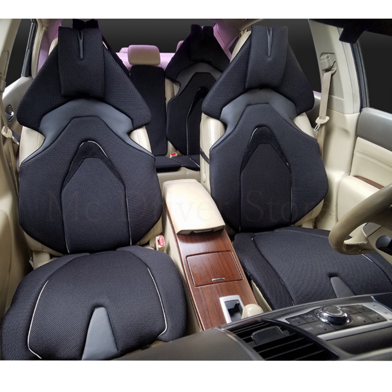 car seat covers racing for smart fortwo lada largus nissan leaf kia sorento bmw x5 e70 audi a3 8v car-styling Polyester Cushion kadulee ice silk car seat covers for outlander xl bmw x5 e70 ford fiesta mk7 hyundai i40 mazda demio volvo s40 kia car styling