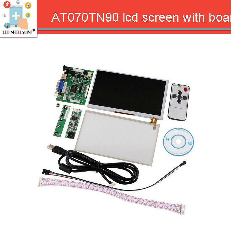 HDMI/VGA + Control Driver Board + 7inch AT070TN90 800x480 LCD Display+Touch Screen For Raspberry Pi Repartment