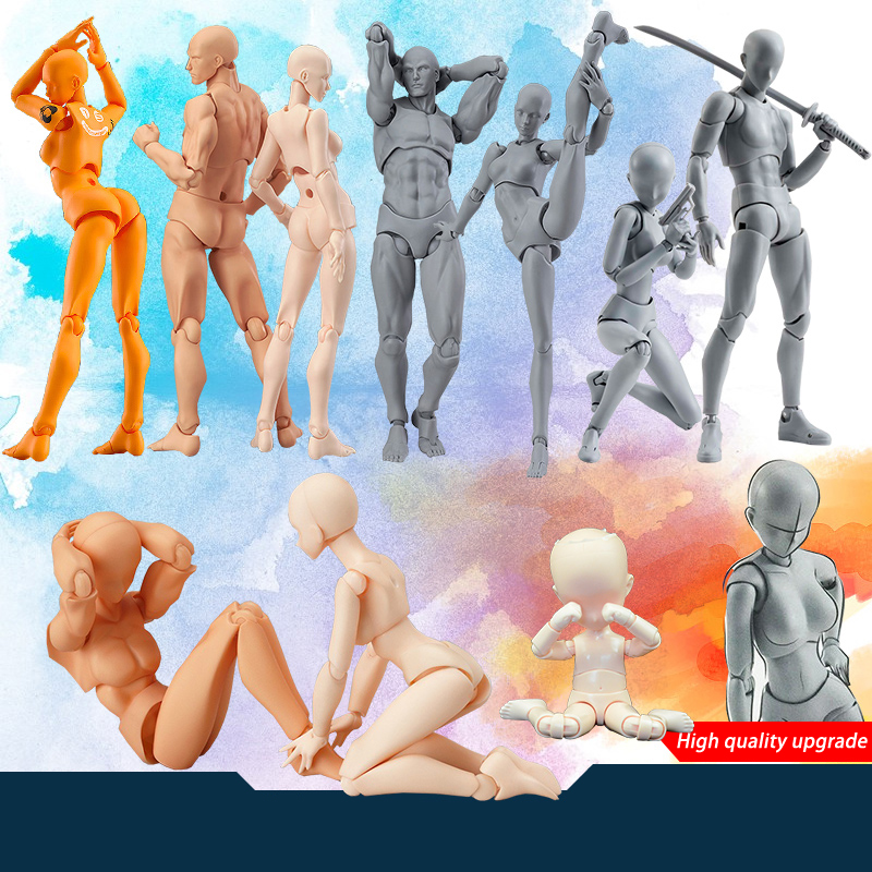 Anime Archetype He She Ferrite Figma Movable Body Feminino Kun Body Chan PVC Action Figure Model Toys Doll for Collectible 2017 anime body kun body chan movable action figure model toys anime mannequin bjd art sketch draw collectible model toy