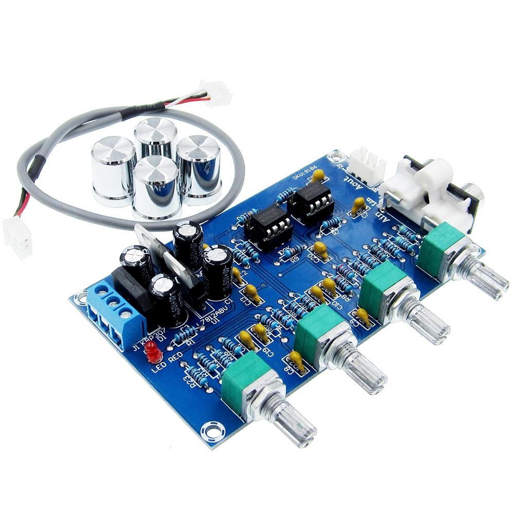 XH-M164 NE5532 Tone Preamplifier Board 4 Way Adjustment AC 15V Tone Preamplifier
