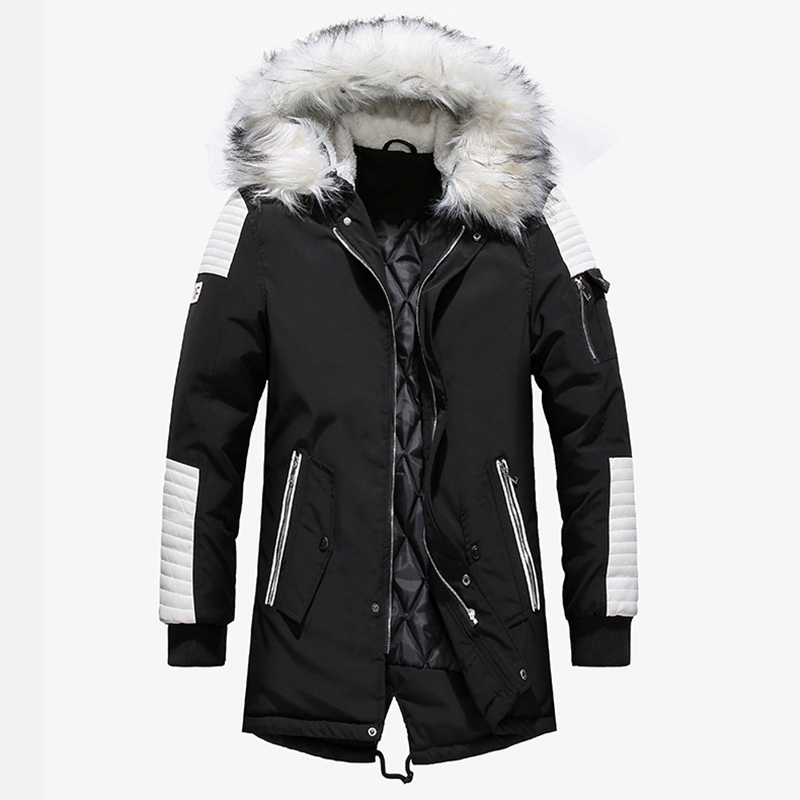 Aolamegs Fur Collar Winter Jacket Men Patchwork Thick Hooded Down Jacket Men Parkas Fashion Windproof Coat Mens Streetwear (18)