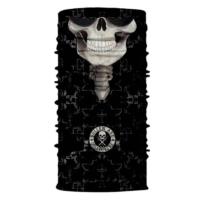 3D Череп Скелет бесшовная Бандана Балаклава головная повязка мотоциклетный головной убор Байкер волшебный платок труба Шея рыболовная вуаль маска для лица - Цвет: TA85