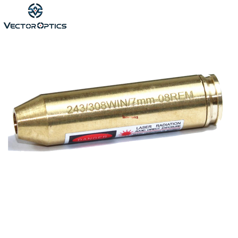 Vector Optics .243 .308 Win. 7.62x51 mm 7mm-08 Rem Cartridge Red Laser Bore Sight Boresighter Brass fit Ruger Savage Browning
