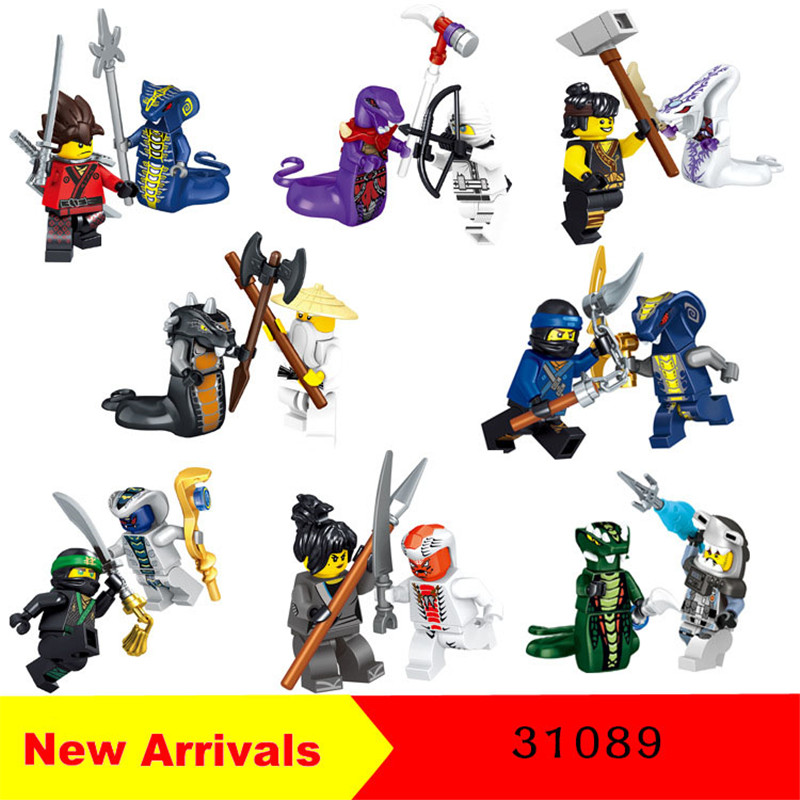 New Arrivals 31089 16pcs Ninjs fightiing snakes monster Building Blocks Gift Kids Boys Toys Compatible Moc Blocks Movie 2017