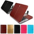 Moda pu estuche de cuero portátil para apple macbook pro air retina 11 12 13 15 pulgadas Ultrabook Portátil bolso de la Cubierta para Mac book 13.3