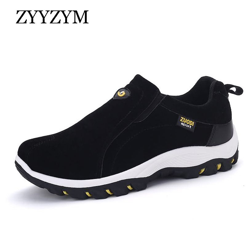 ZYYZYM High Quality Outdoor Men Shoes Casual Slip On Flats Trainers Comfortable Big Size Shoes For Man