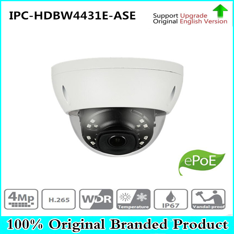DH Free Shipping Security IP Camera 4MP IR mini Dome Network Camera IP67 IK10 With POE without Logo IPC-HDBW4431E-ASE цена 2017