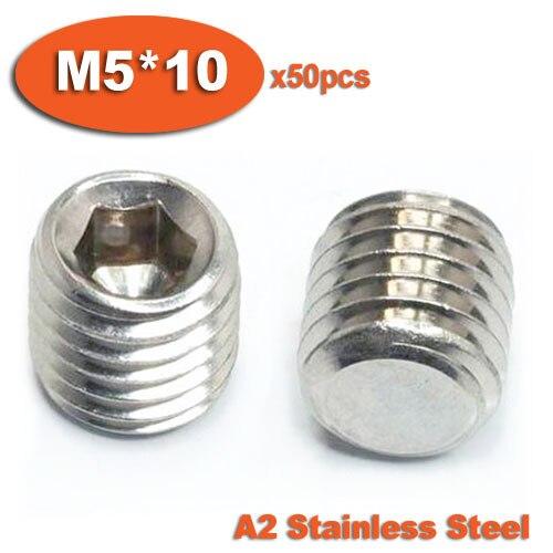 Set de 10/vis Allen M3/M4/M5/M6/A2 Acier inoxydable M6 x 10mm avec t/ête Ronde hexagonale