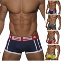 2016 Nuevos hombres de marca pantalones cortos de los boxeadores de algodón cueca Ropa Interior de los hombres U bolsa convexa ropa interior de gran tamaño M-XXL