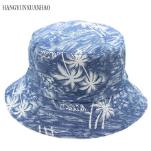 Brand Printing Men Women Fisherman Hats Couple Bucket Hat Summer Autumn Spring Shade Cotton Caps Double Sided Can Be Worn