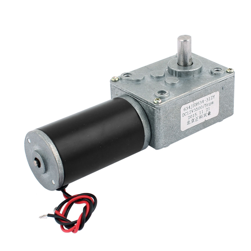 UXCELL DC 12V 5RPM 8mmx14mm D-Shape Shaft Electric Power Turbo Worm Geared MotorUXCELL DC 12V 5RPM 8mmx14mm D-Shape Shaft Electric Power Turbo Worm Geared Motor