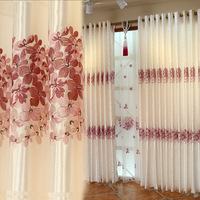 1Pcs Curtains For Living Room/Bedroom Flower Embroidery Window Curtain Drape Rideau Blackout Cortinas Para Sala Finished Product
