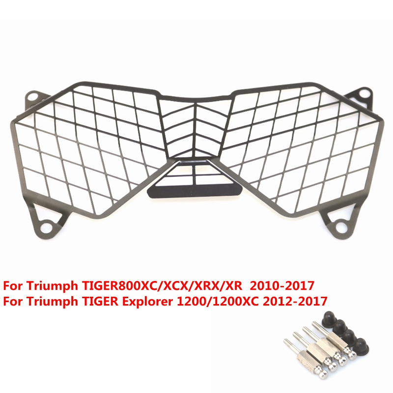 Headlight Grille Guard Cover Protector For Triumph TIGER800XC/XCX/XRX/XR  TIGER Explorer 1200/1200XC 2012 13 14 15 16 2017