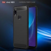 Vivo NEX Case Soft Bumper Carbon Fiber S Silicone Cover For Back Coque Fundas