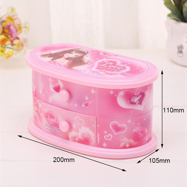 Pink Music and Jewelry Box for Girls