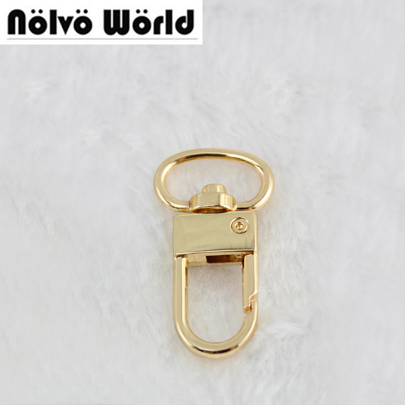 100pcs Gold Silver Tone 34X13mm 0.5 Inch Metal Snap Hook, Swivel Trigger Clips Snap Hook For 13 Mm Strapping