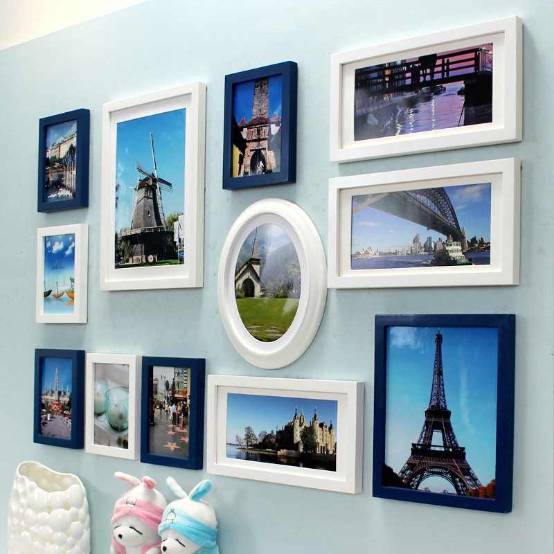 Retro Nostalgic Collage Painting Frame Vintage Wall Picture Frame ...