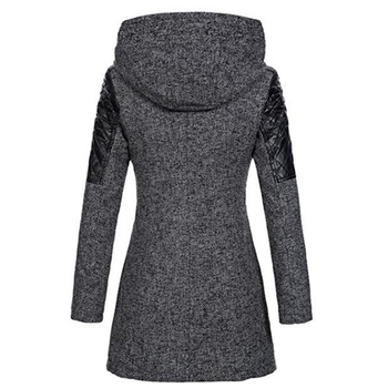 Women Winter Hooded Zipper Coat 1