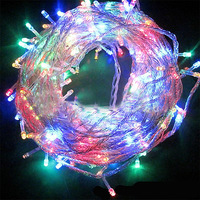Christmas Garland LED Curtain Icicle String Light 220V 100M 600 Leds Indoor Drop LED Party Garden Stage Outdoor Decorative Light