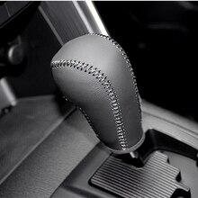 цена Free Shipping High Quality Cowhide Top Layer Leather Automatic Gear Shift Collars Gear Cover For Mazda CX-5 CX5 онлайн в 2017 году