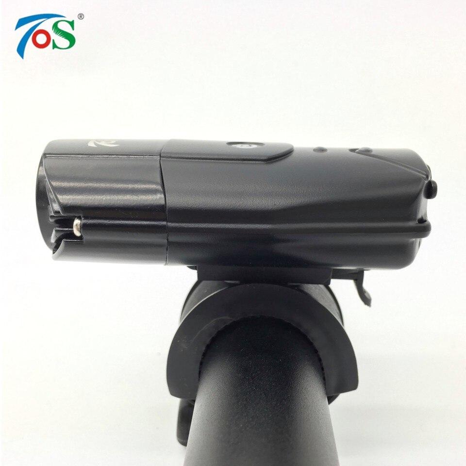 TOS 1200 Lumens Recarregável USB Luz Da Frente Da Bicicleta Acessórios de Bicicletas Lanterna Bicicleta Lâmpada Para Ciclismo Bicicleta LEVOU Farol