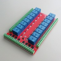 Isolated 16 relay control module / expansion modules / high / low level triggered / 5V / 12V / 24V Relays