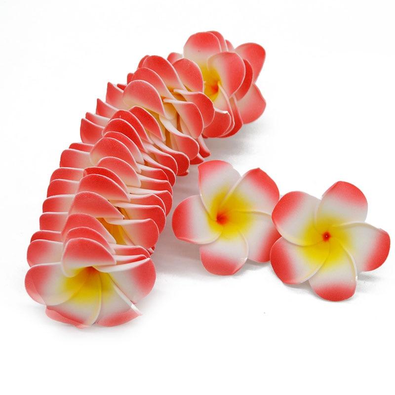 10pcs Artificial Plumeria Foam Egg Flower Frangipani Heads