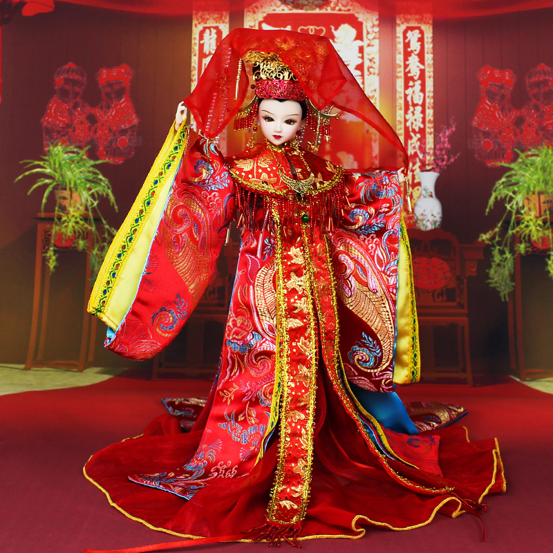 Fortune days Chinese brand doll Ming Dynasty Bride joint body East Charm including box stand clothes shoes 35cm gift present цена и фото