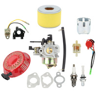 New Carburetor Replacement Kit For Honda GX240 GX270 Recoil Starter Ignition Coil Air Filter