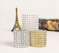 50pcs 24 Colors Plastic Rhinestone Wrap Napkin Ring Holder Buckle Hotel Party Wedding Supplies Home Chair