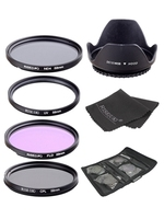 UV CPL FLD ND4 Neutral Density Camera Filters Kit Optical Glass 58mm For Canon Nikon Sony