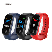 M3 Smart Watch Blood Pressure Measurement Bluetooth Smart Band Fitness Bracelet With Pedometer Sport Wristband For IOS Android