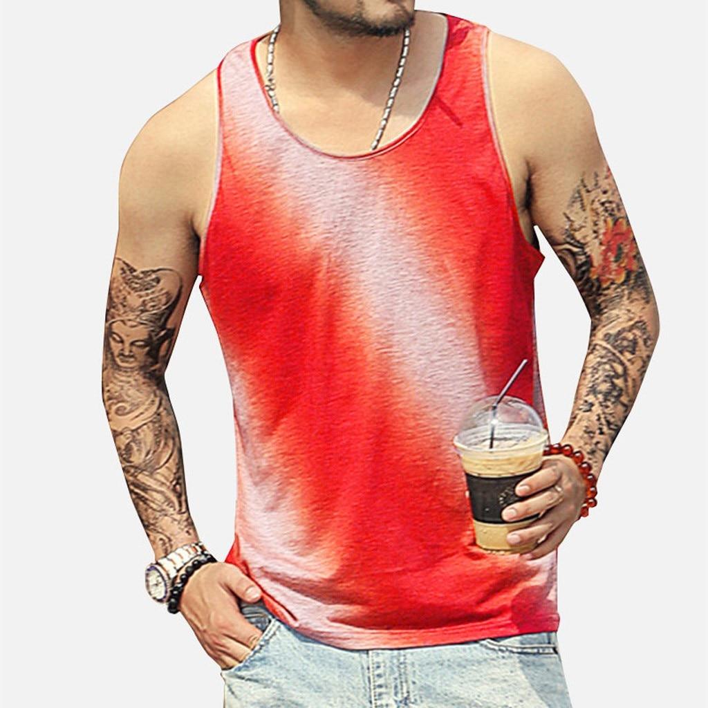 Gym   Tank     Top   Canotta Bodybuilding Sleeveless Man Musculation Ropa Hombre Erkek Giyim Mens Clothing Singlet O-Neck Men Clothes