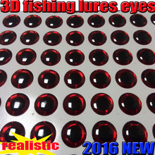 2015new 3D fishing lure eyes fly choose size:4MM-5MM-6MM-7MM-8MM-9MM-10MMquantity:500pcs/lot color: red