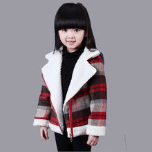 Дети Девушки шерстяное пальто 2016 Корейской зимой новый маленькие дети кашемир шерстяное пальто толстые женщины прилива