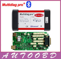 VD TCS CDP !+100% quality A Green Single Board PCB Mutldiag Pro+Bluetooth Multi-language with Full cover housing for Cars Trucks