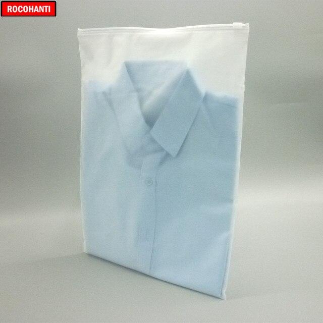 Sacs plastiques givrés à fermeture éclair 100X   Pour vêtements, T-Shirt, jupe, sac de rangement demballage de détail, impression de logo personnalisée