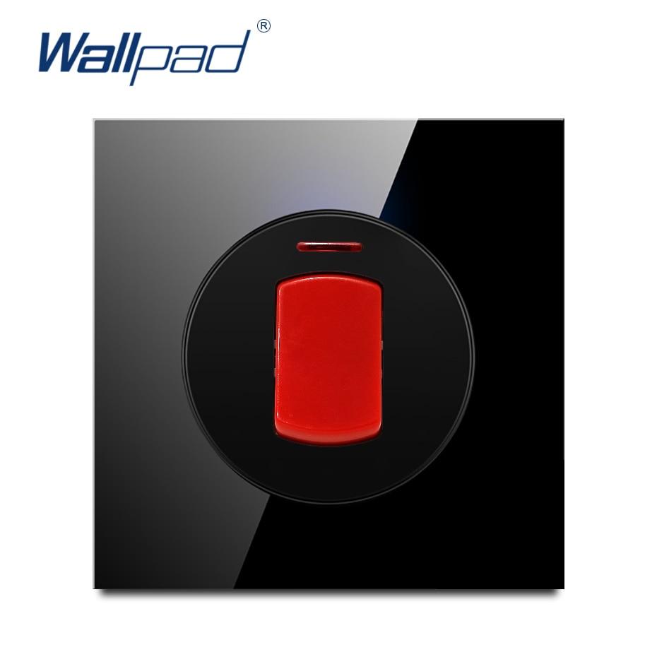 Wallpad L6 Black Glass 20A Water Heater Switch Double Pole Power SwitchWallpad L6 Black Glass 20A Water Heater Switch Double Pole Power Switch