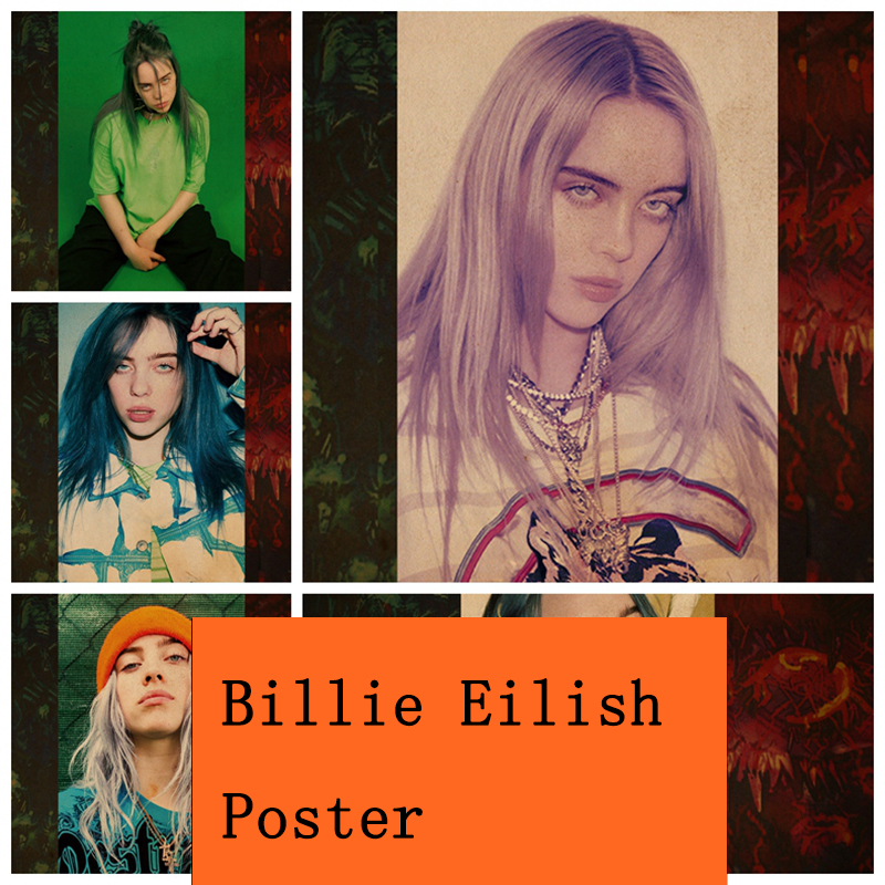 COSY MOMENT Billie Eilish Poster Singer Star Wall Art Posters And Prints Photographic Paper Picture For Living Room Decor ZS121