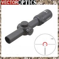 Vector Optics Thanator 1 8x24 CQB Long Eye Relief Rifle Scope 1/10 MIL Low Profile Turret Illuminated Dot Retile with 30mm Mount