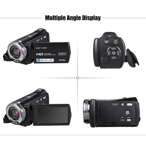 Image 4 - Andoer V12 1080P kamera wideo Full HD 16X kamera z zoomem cyfrowym w/3.0 Cal obrotowa podpórka ekranu lcd Night Vision