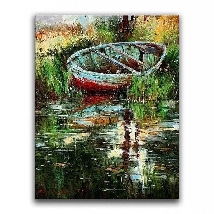 100% əllə boyanmış yağlı - Ev dekoru - Fotoqrafiya 6