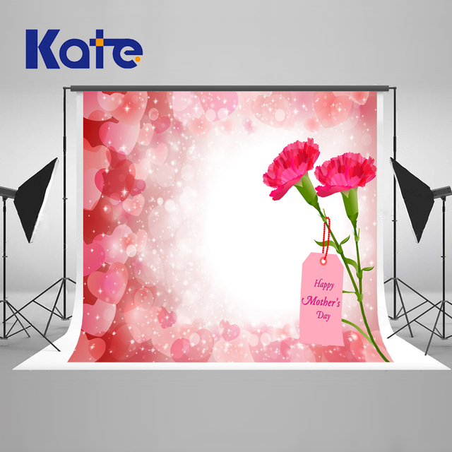 Kate 10x10ft Happy Mothers Day Photography Backdrop Flowers Romantic Background Sparkle Studio Photo
