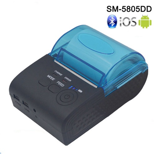 <font><b>RS232</b></font>/Порты usb 58 мм Мини Беспроводной <font><b>Bluetooth</b></font> Термальность получения принтер Поддержка ESC/P0S для IOS/Android Мобильный принтер