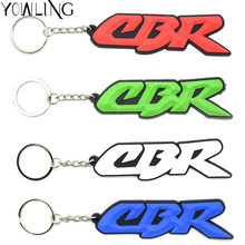 Hot sellig motorcycle accessories racing soft rubber motorbike key ring key chain For Honda CBR 600 919 954 1000 1100 RR CBR650F(China)