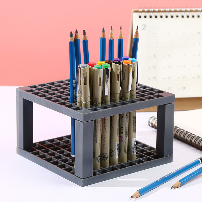 Bgln 1Piece 96Holes Penholder black/grey Paint Brush Pen Holder Rack Display Stand Support Holder Painting Brush For Drawing Bgln 1Piece 96Holes Penholder black/grey Paint Brush Pen Holder Rack Display Stand Support Holder Painting Brush For Drawing