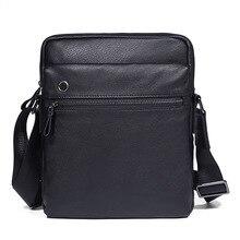 Men Black Shoulder Bag Genuine Leather Business Vintage Brand Male Crossbody Small Flap Ipad Travel Bags Cow Leather Man Bags недорго, оригинальная цена