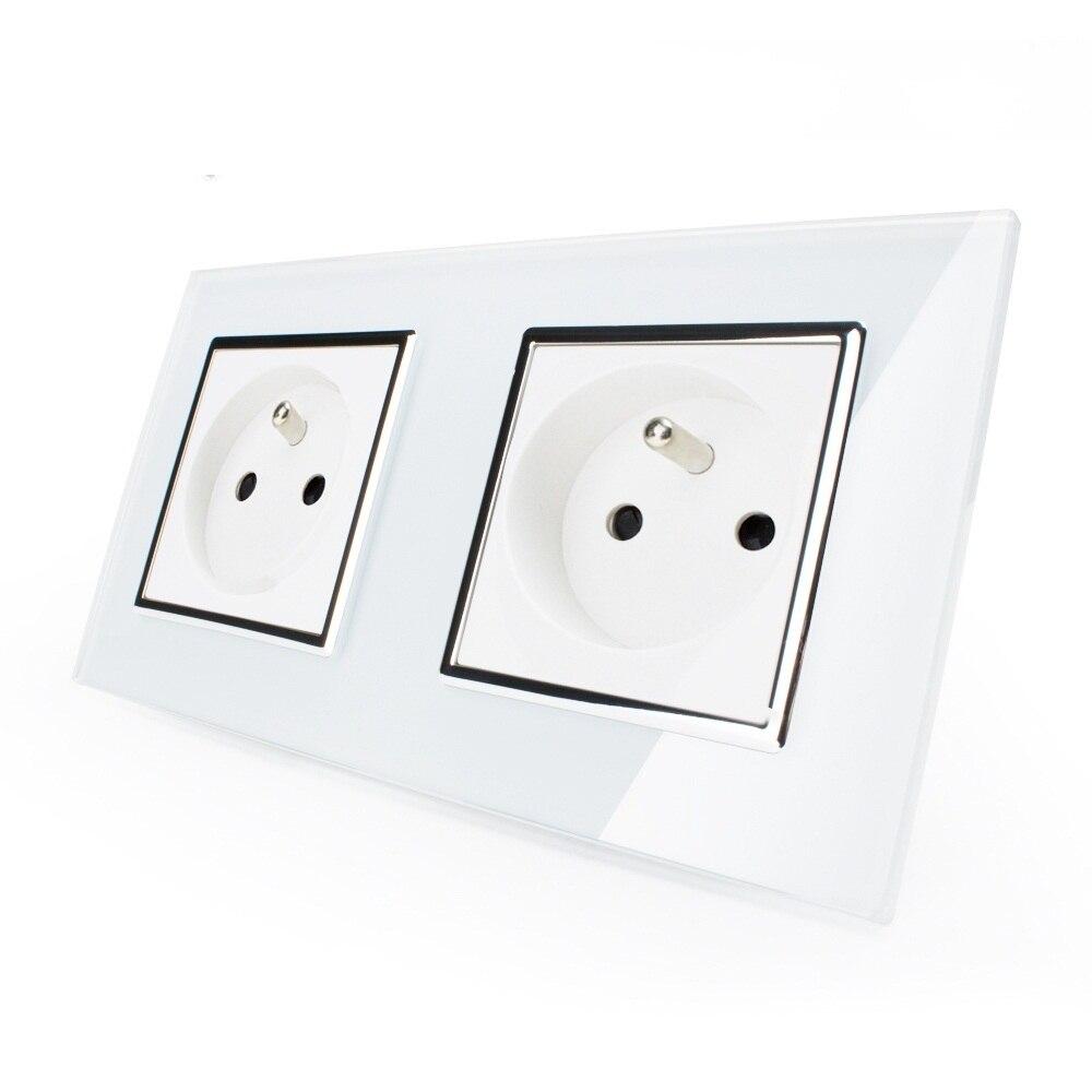 Smart Home Pared 16a Estándar Francés, pared Eléctrica/Potencia de Doble Zócalo/