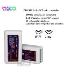 2.4G RF Wireless FUTD02 Mi Light RGBWW/CW strip DMX512 controller  RGB+CCT control panel controllable,DC12V-24V